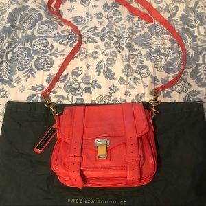 Authentic PS1 proenza schouler orange bag purse